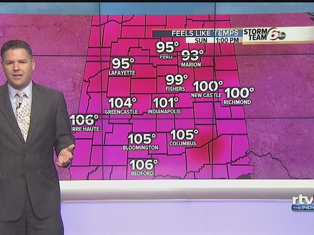 Heat advisory extended through Sunday evening