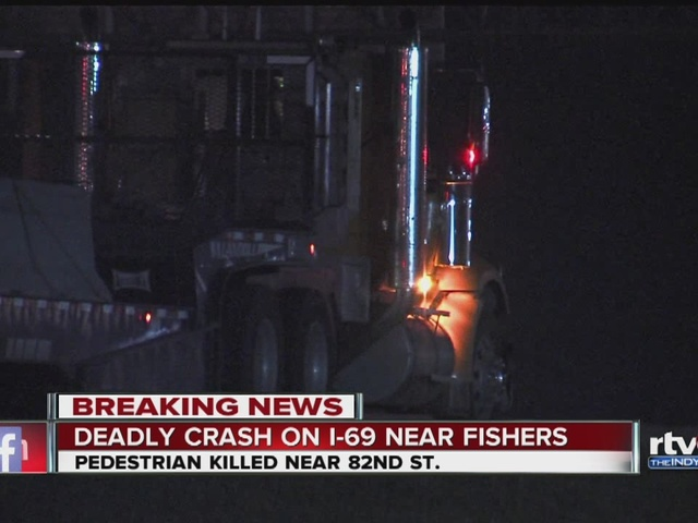 Pedestrian killed in crash on I-69 in Fishers