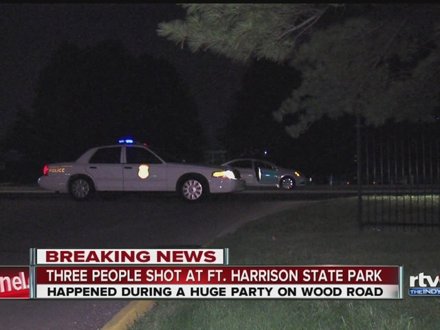 3 shot during large party at Ft. Harrison Park