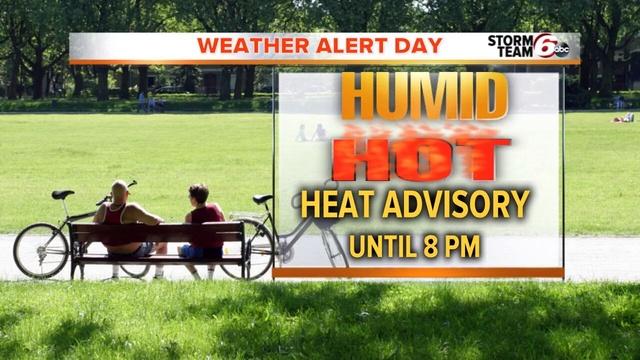 ALERT: Heat advisory in effect until 8 PM