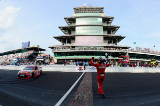 PHOTOS: Busch leads most of Brickyard to win