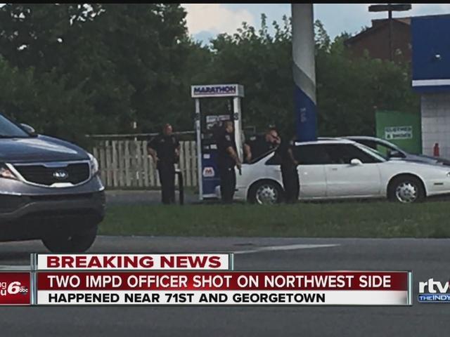 IMPD officer shot during traffic stop on northwest side