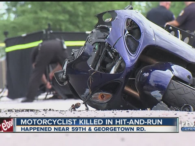 Motorcyclist killed in hit-and-run