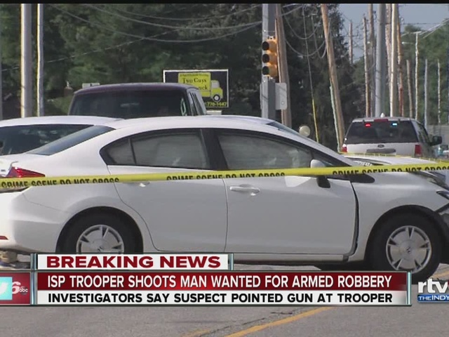 State police trooper shoots robbery suspect