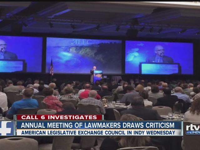CALL 6: ALEC meeting in Indianapolis draws criticism