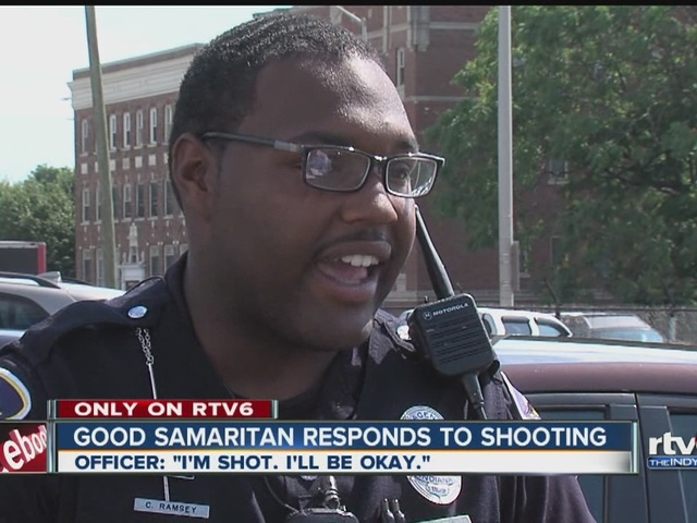 Good Samaritan responds to shooting of IMPD officer