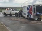 Ambulance carrying shooting victim crashes