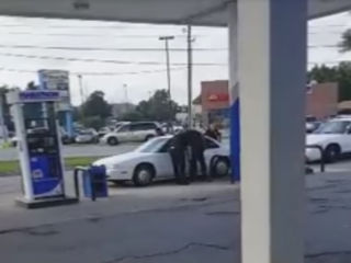 WATCH: Chaos before chase, officer shooting
