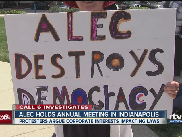 ALEC holds annual meeting in Indianapolis