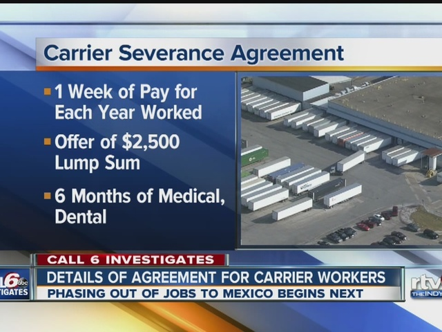 Carrier workers get deal with company