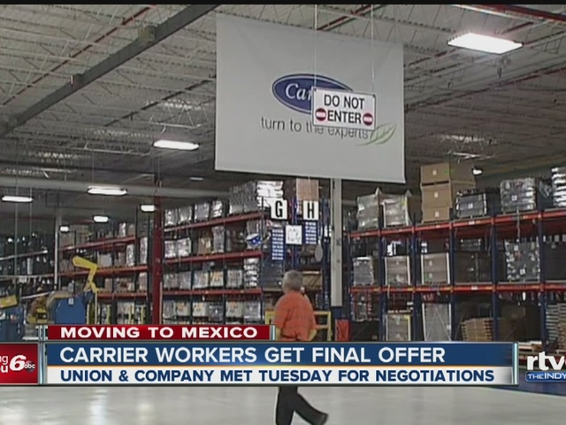 Carrier workers get final offer