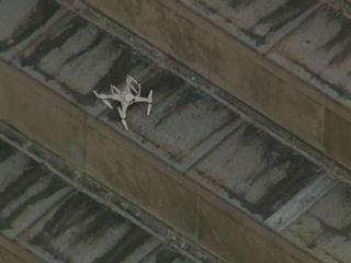 Drone crash-lands on top of Indiana War Memorial
