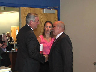 Holcomb, Gregg meet on campaign trail