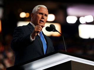 Mike Pence talks to 7 at Novi campaign stop