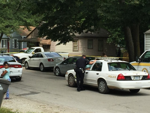 Victim found shot in backyard on near-west side
