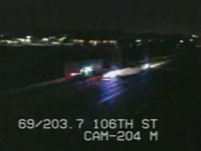 WATCH: Police chase suspect on I-69