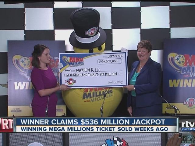 Winner claims $536 jackpot