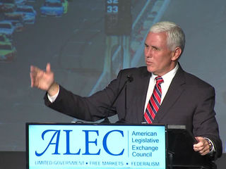 Gov. Pence speaks at ALEC meeting in Indy