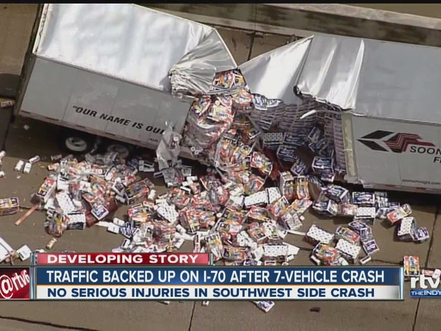 2 lanes of I-70 westbound reopen after semi crash