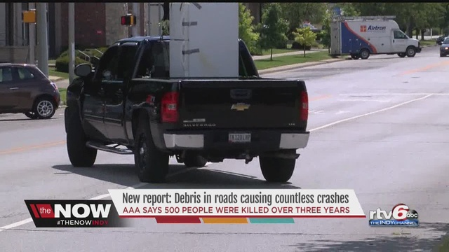 AAA: Nearly 40000 drivers killed or injured by road debris