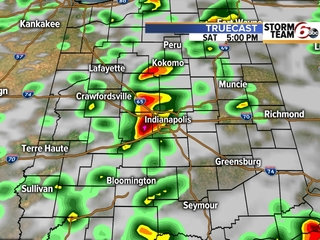 TIMELINE: Rain continues through Saturday night