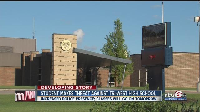 school resumes at tri west high school despite threat