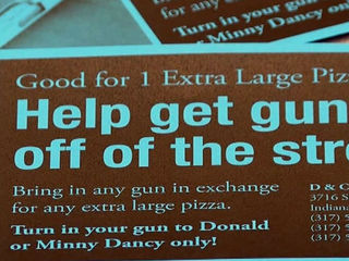 East side business owner offers pizza for guns