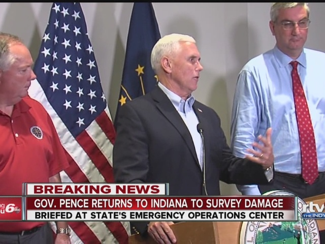Gov. Pence: Tornado outbreak happened at the worst possible time