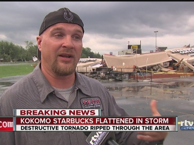 Man helps trapped employees, patrons at Starbucks destroyed by tornado