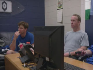 WATCH: Eli is a noisy eater, and Peyton hates it