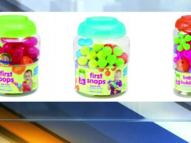 RECALL: Infants' toys could pose choking hazard