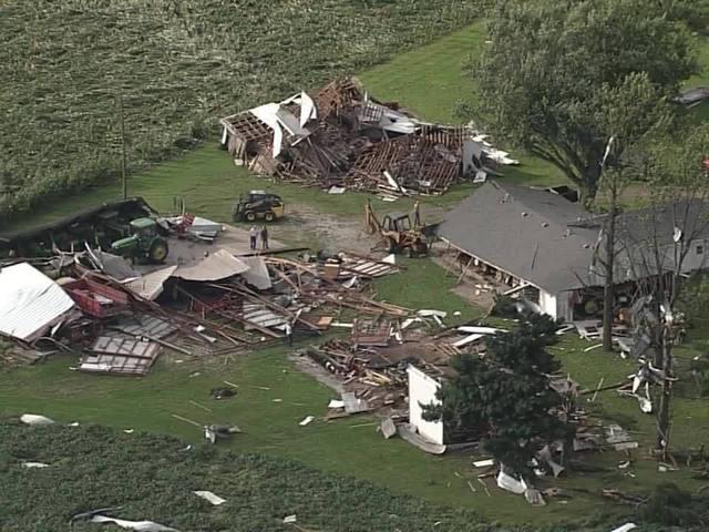 Tornado damage in Montgomery County