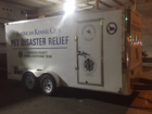 Disaster relief trailer helps pets feel at home