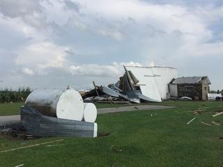 AERIAL: SkyCam 6 surveys the path of EF3 tornado