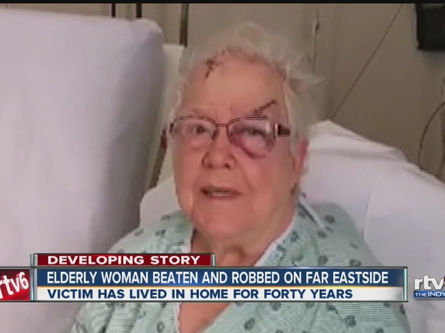 Elderly woman beaten and robbed in home