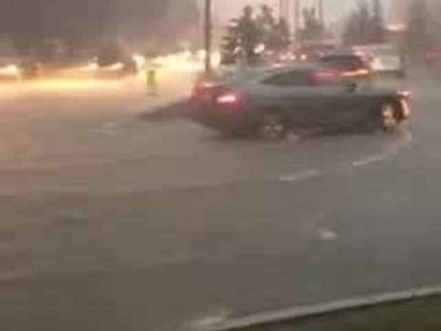 Indianapolis streets flooded after heavy rain