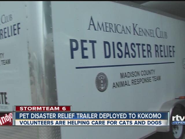 Pet disaster relief truck in Kokomo
