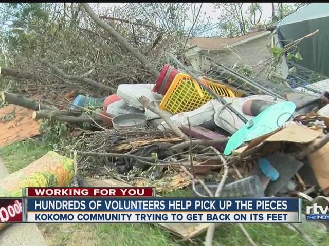 RTV6 works with volunteers to help clean up Kokomo