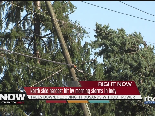 Storm on Indy's north side leaves damage