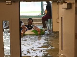 LOOK: Indians go swimming in dugouts