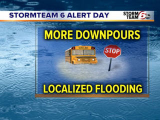 ALERT: More heavy downpours today
