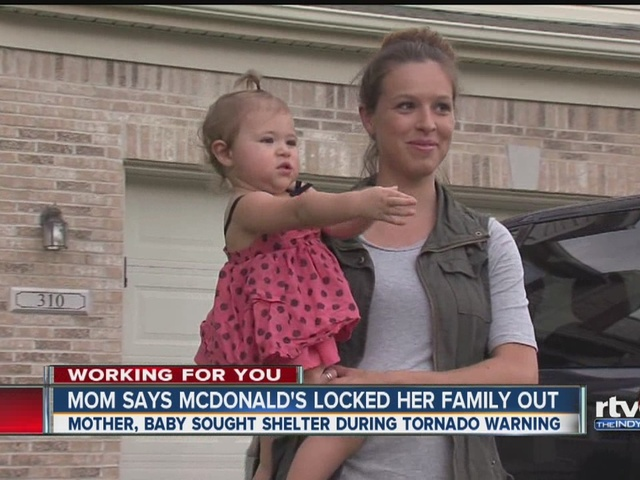 Mom says McDonald's locked her family out
