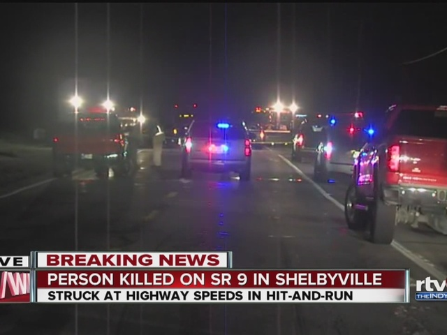 Person killed on State Road 9 in Shelby County