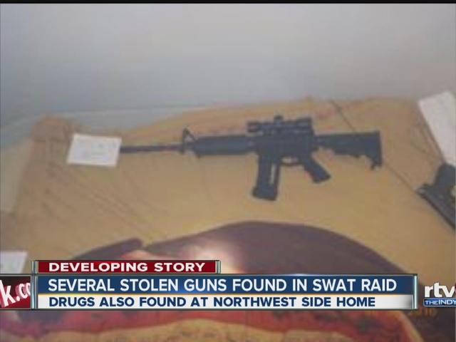 Several stolen guns found in SWAT raid