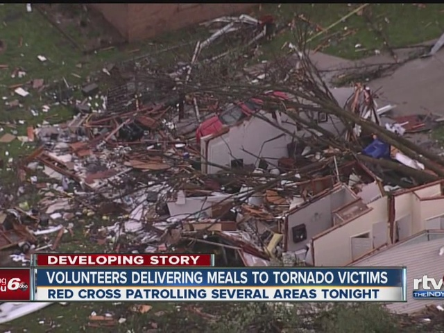 Volunteers deliver meals to tornado victims in Howard County