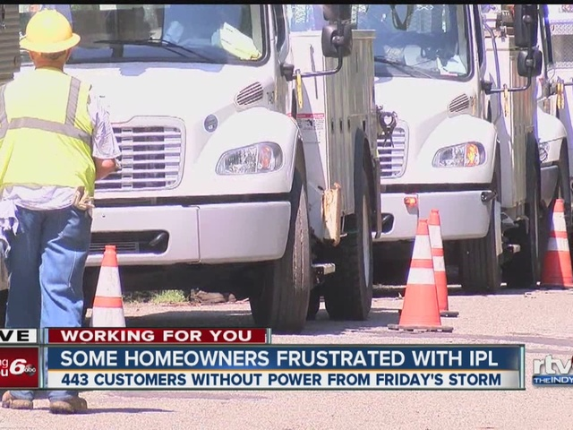WATCH: IPL still restoring power as families go several days without electricity