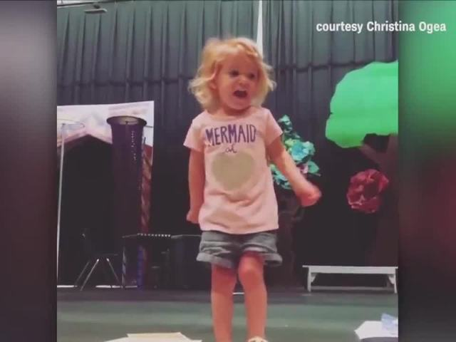 Young girl wins hearts with her version of the 'ABCs'