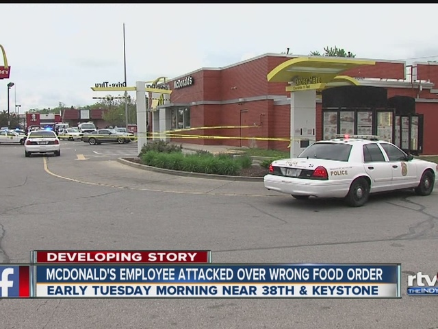 McDonald's employee attacked over incorrect food order