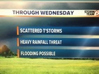 Scattered T'Storms through Wednesday.