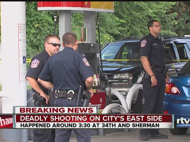 Shooting at 34th and Sherman in Indianapolis
